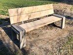 Tuinbank beton hout