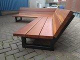 Hoekbank hout