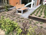 Tuinbank beton hardhout