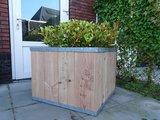 Plantenbak hout verzinkt staal