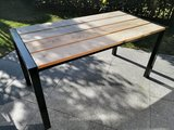Tuintafel hout staal