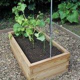 Lage plantenbak hout