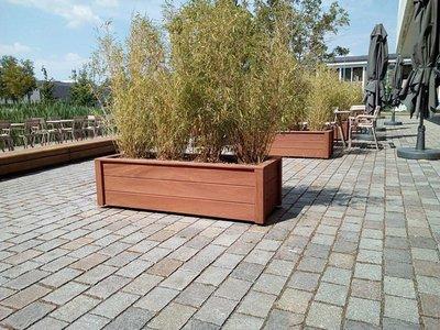 Plantenbak TW FENCE PLUS - Hardhout
