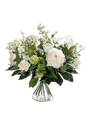 Kunstbloem - Bouquet white dream