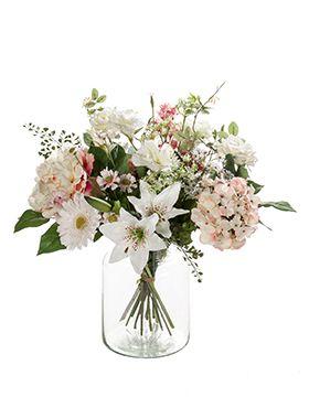 Kunstbloem - Bouquet soft pastels