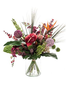 Kunstbloem - Bouquet exotic mix