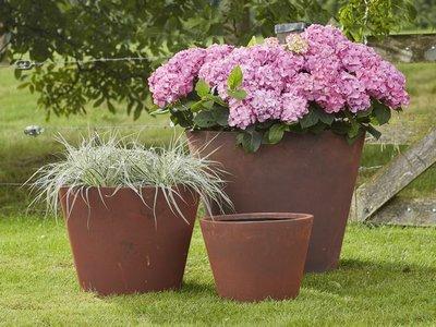 Plantenbak Corten Look - Conisch